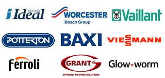 Ideal Boilers, Worcester Bosch Group, Vaillant, Potterton, Baxi, Viessmann, Ferroli, Glow Worm