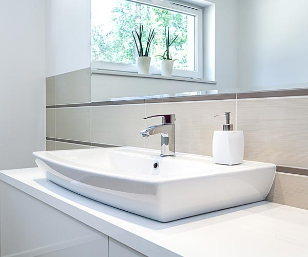 Bathroom with white sink